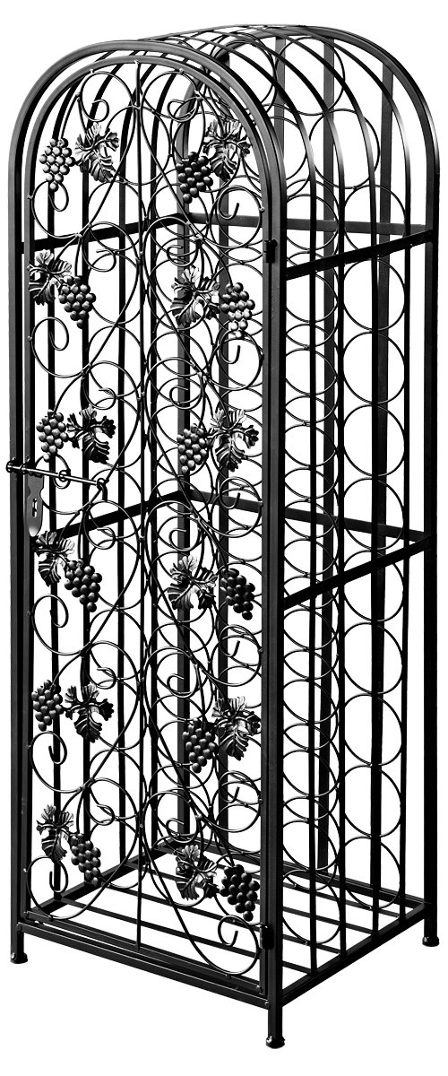 Febland Wine Rack, Metal, Black WR10B