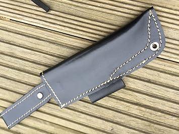 Funda de cuero hecha a mano para cuchillos de caza o ...