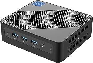 U700 Mini PC Intel Core i5-5257U Windows 10 Pro Mini PC Desktop Computer,Expandable RAM 8GB DDR3L+256GB SSD, HDMI/Mini DP/USB-C 4K Salida, 2 x Ethernet, 3 x USB 3.0,Support Chromium & Linux OS