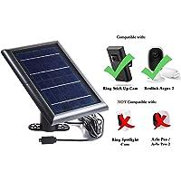 Solarpanel für Ring Stick Up Cam und Reolink Argus 2, Power Your Ring Outdoor Camera and Reolink Argus 2 kontinuierlich mit unserem neuen Solarladegerät - von Wasserstein