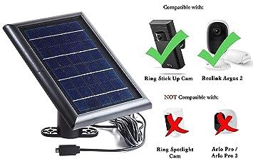 Placa solar para cámara de vigilancia Ring Stick Up. Carga tu cámara Ring de exterior
