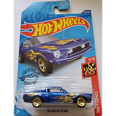 Hot Wheels 2020 Hw Flames '68 Shelby GT500, Blue 169/250: Toys & Games