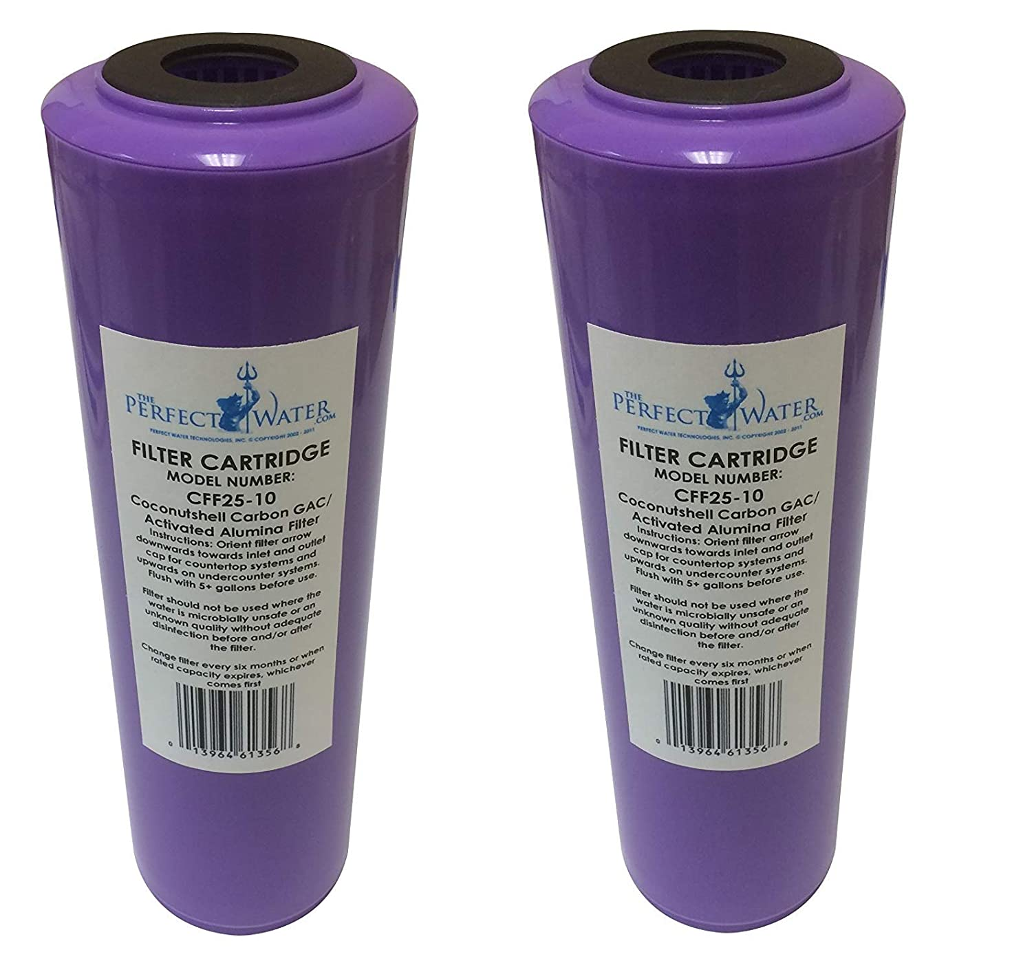 Home Master CFF25-10 Jr F2 Replacement Water Filter, Activated Alumina/GAC Fluoride Filter, Purple (Pack of 2)