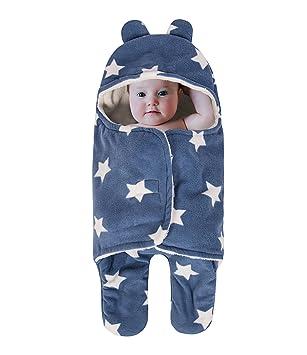 Manta de bebé para dormir, gruesa manta de forro polar con patas separadas, suave
