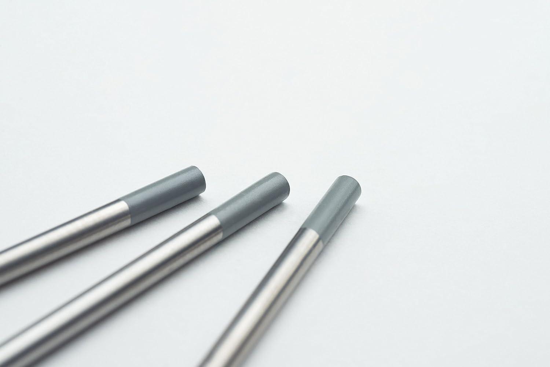 10 pieza Wig Tungsteno electrodos Soldadura Tig gris ø3,2 X 175 Mm agujas (sin torio): Amazon.es: Bricolaje y herramientas