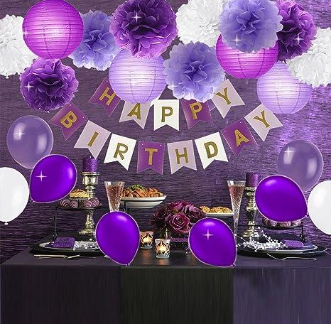Feliz cumpleaños Banner Bunting Kit, Kit de decoración para ...