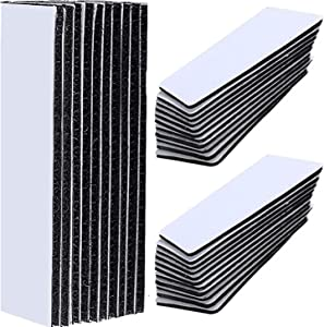 30 Pcs Keep Couch Cushions from Sliding, Double Sided Tape Heavy Duty Non Slip Self Adhesive, Adhesive Square Hook and Loop Tape Strips Multipurpose Removable Mounting Tape Adhesive Grip