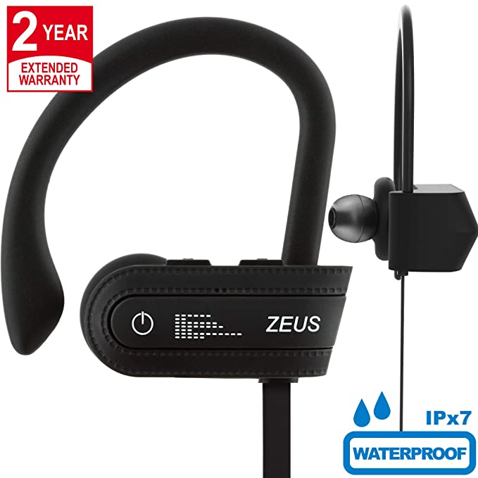 Wireless Bluetooth Headphones Zeus IMPROVED 2018 - Best Wireless Earbuds w/ Mic Noise Cancelling -