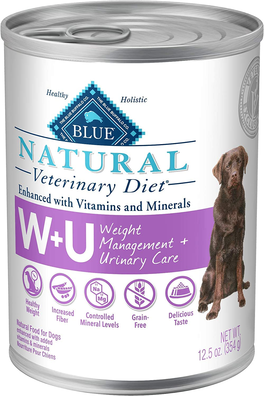Blue Buffalo Natural Veterinary Diet Weight Management Urinary Care for Dogs 12.5oz
