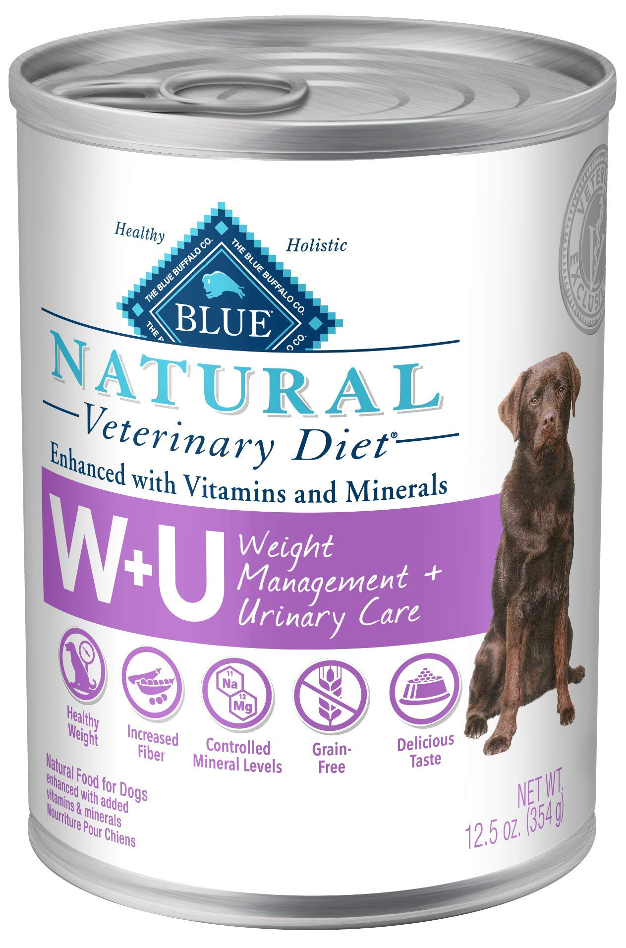 Blue Buffalo Natural Veterinary Diet Weight Management + Urinary Care for Dogs 12.5oz by Blue Buffalo Natural Veterinary Diet