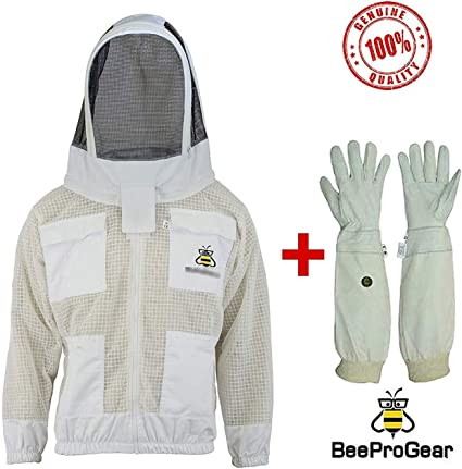 beekeeping jacket  protective Round veil hat hood @M-99 Beepro beekeeper