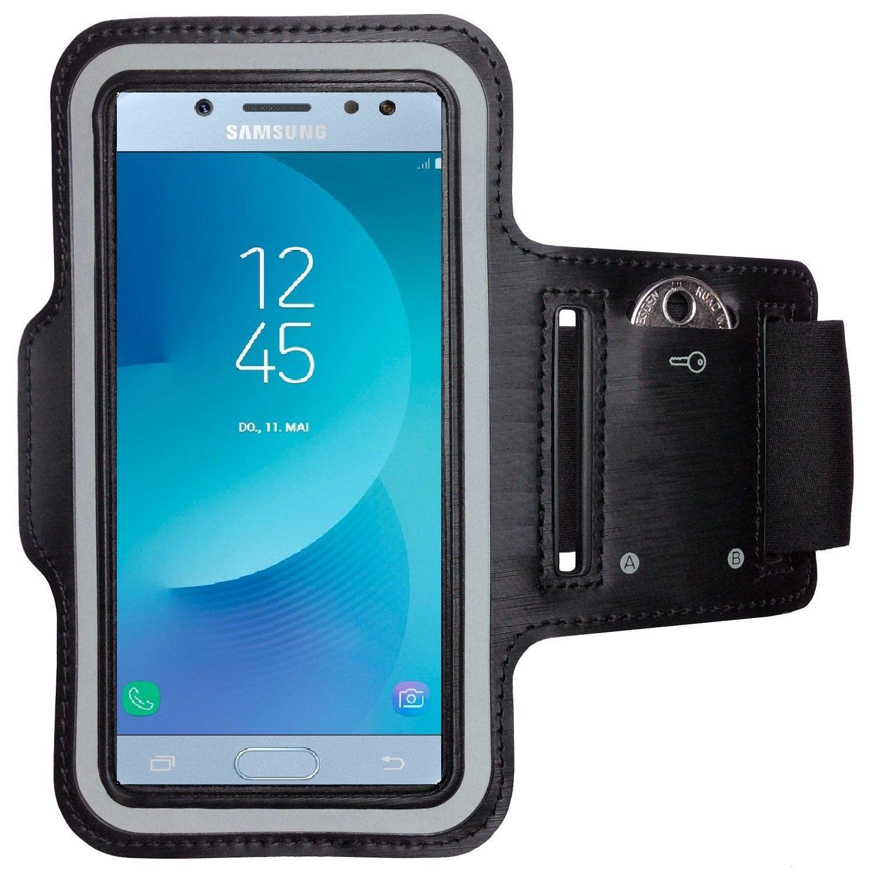 Sport Handyh/ülle Handy Armband Schwarz CoverKingz Armtasche f/ür Samsung Galaxy A50 Sportarmband mit Schl/üsselfach Laufarmband