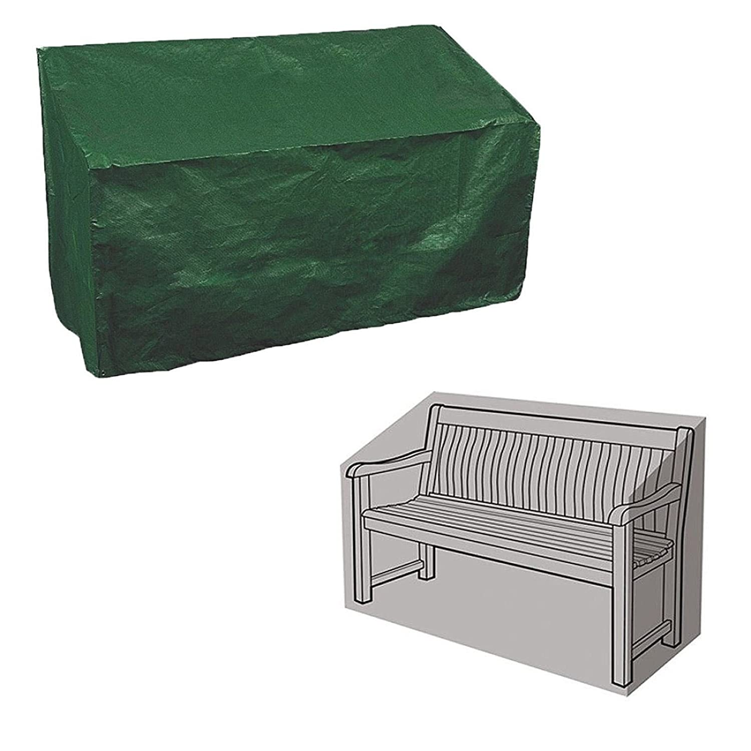 New 2-Seater Bench Cover Waterproof Durable Tear & Rip Resistant Polyethylene Cover discountin ltd