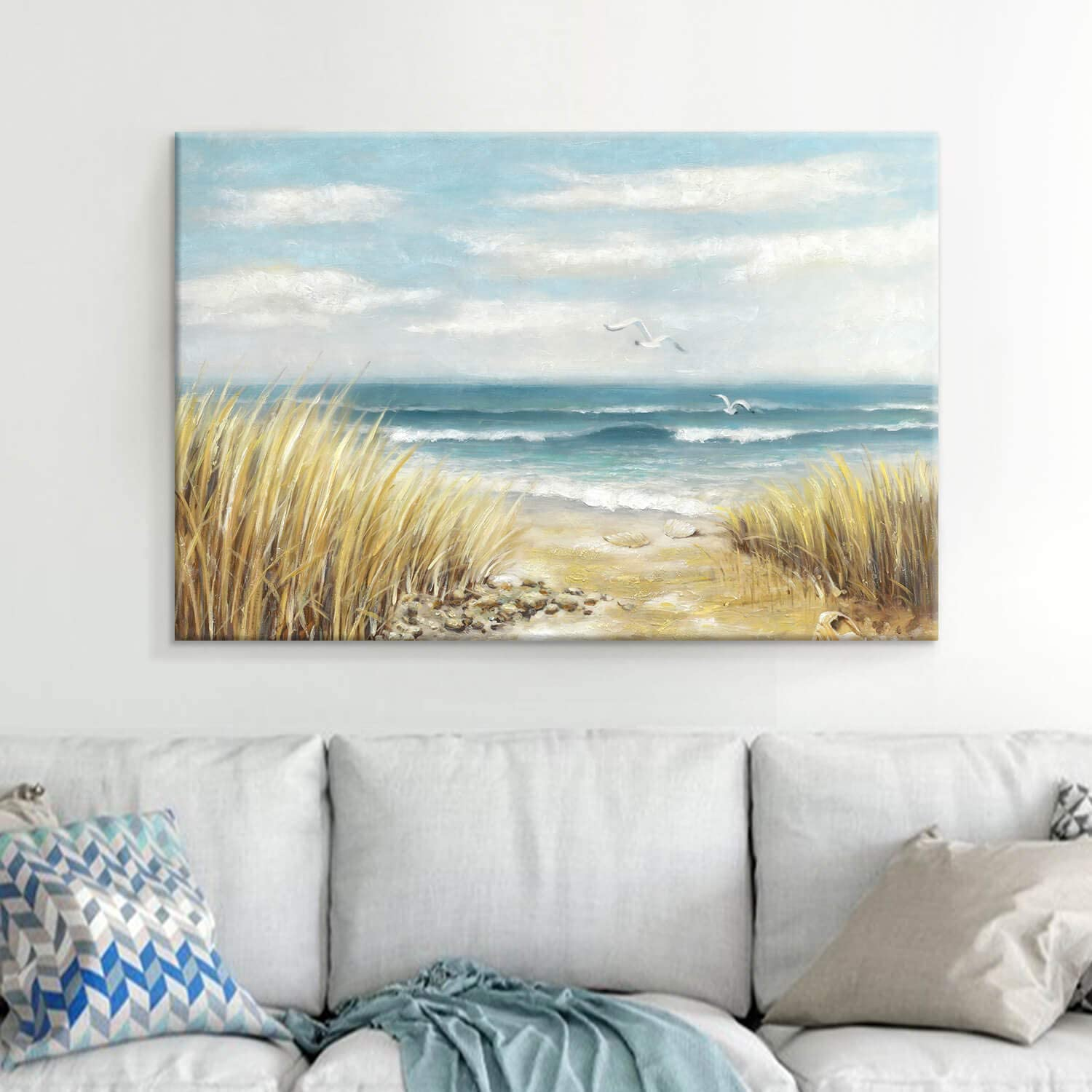 Art /& Collectible Ocean Painting Painting on Stretched Canvas 1.5 deep Title: West Shore Original Painting made to Order Wall Decor