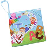 Kids Letters Theme Cloth Book with Bright Color Pictures Toddler Baby Learning Toys