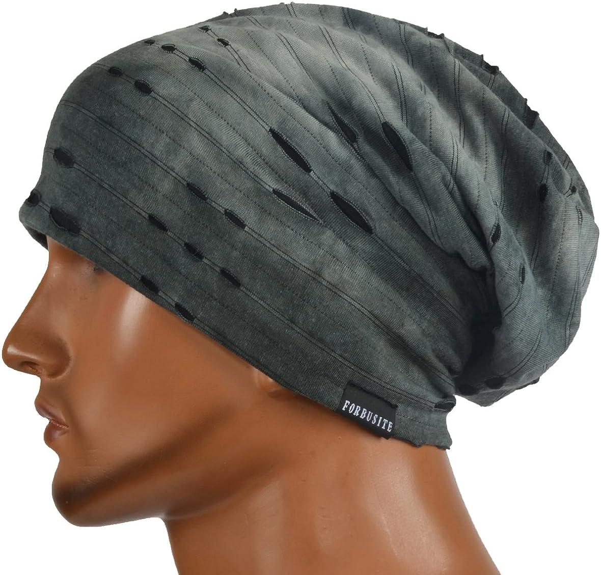 HISSHE Unisex Jersey Slouch Beanie Thin Summer Skullcap