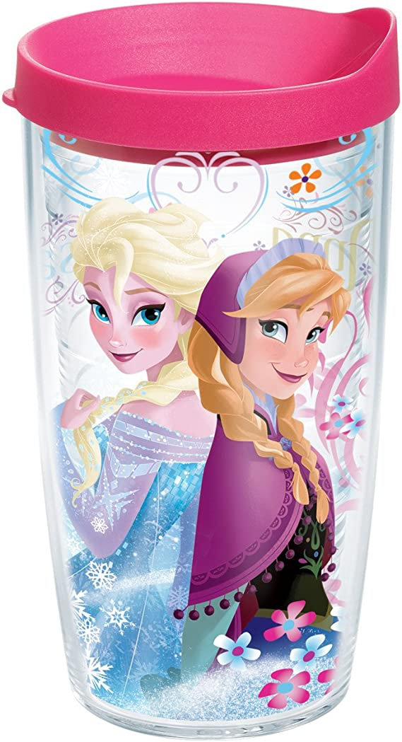 Disney Store Frozen Anna Olaf Cold Cup Tumbler Sippy Plastic Water Straw Cup New