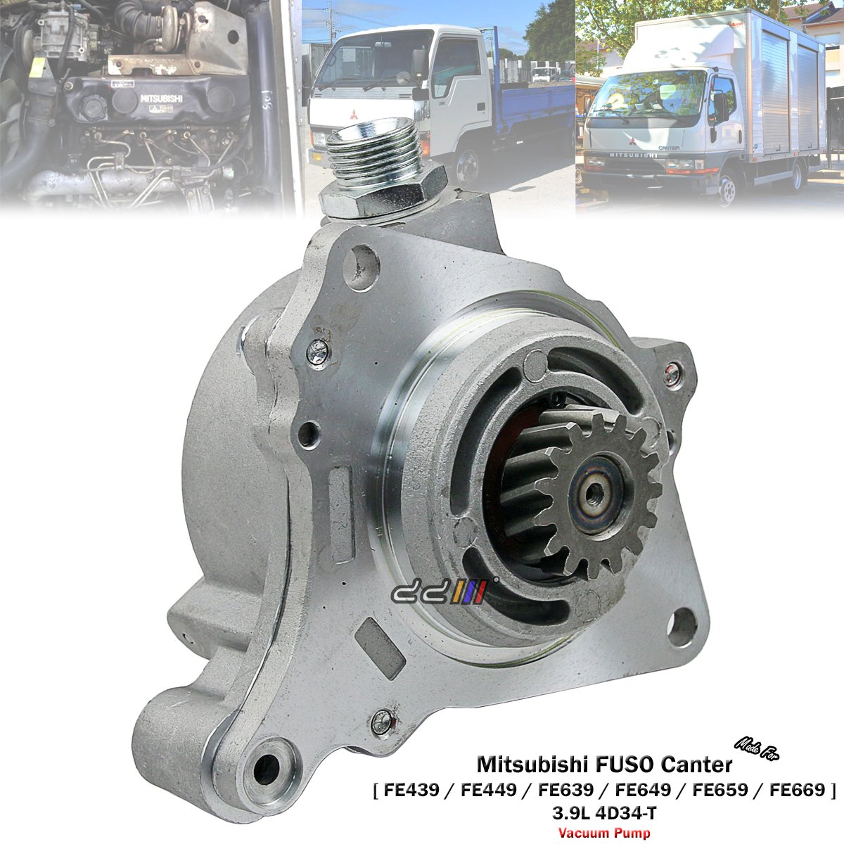 Amazon.com: Engine Vacuum Pump For Mitsubishi Fuso Canter FE439 FE659 3.9L  4D34 ME017287: Automotive