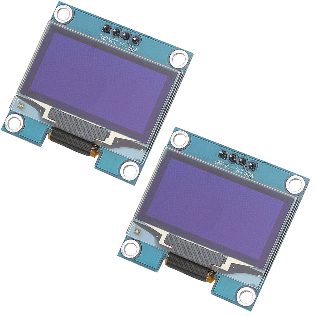 HiLetgo 2pcs 1 3'' IIC I2C Serial 128x64 SSH1106 SSD1306 OLED LCD Display  LCD Module for Arduino AVR PIC STM32