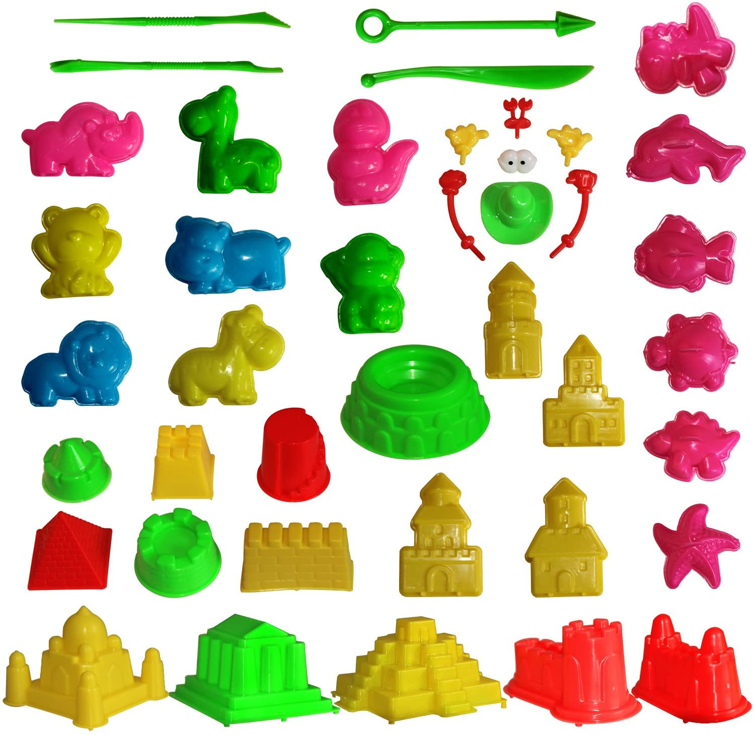 Mukool Sand Molding Tools 42pcs Mold Activity Set Compatible with Any Molding Sand: Toys & Games