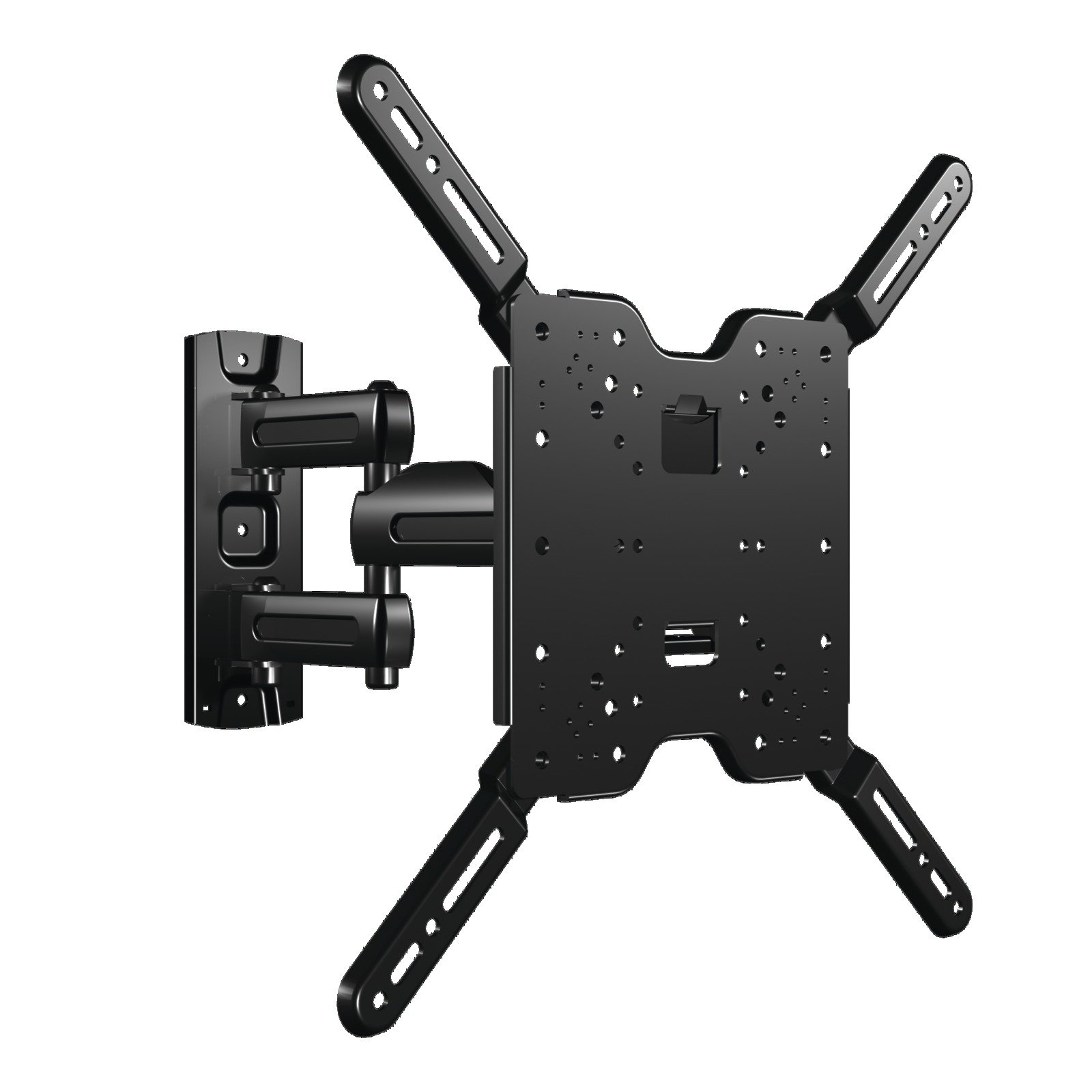 SANUS Vuepoint Full Motion TV Wall Mount Bracket for 37-80'' TVs - Includes 10' HDMI, Surge Protector, Cable Ties and More - FLF215KIT