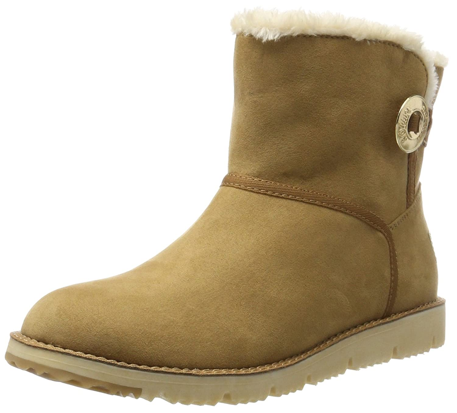 s.Oliver 26412, Botas Slouch para Mujer37 EU|Marrón (Nut)