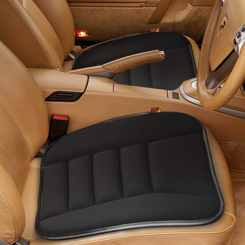 RaoRanDang Car Seat Cushion Pad for Car Driver Seat Office Chair, Computer Chair with Non Slip Bottom Memory Foam Seat Cushion Black