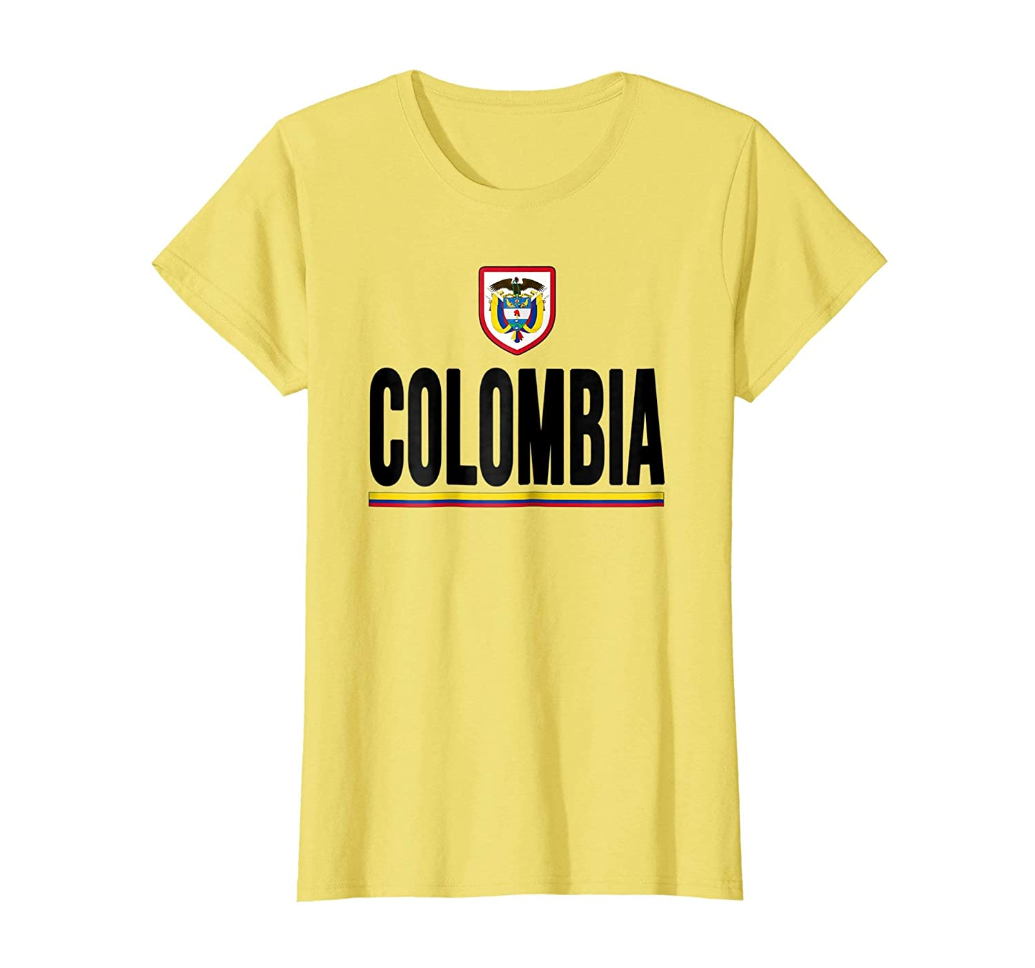 Amazon.com: Colombia T-shirt Colombian Flag Soccer Futbol Fan Jersey: Clothing