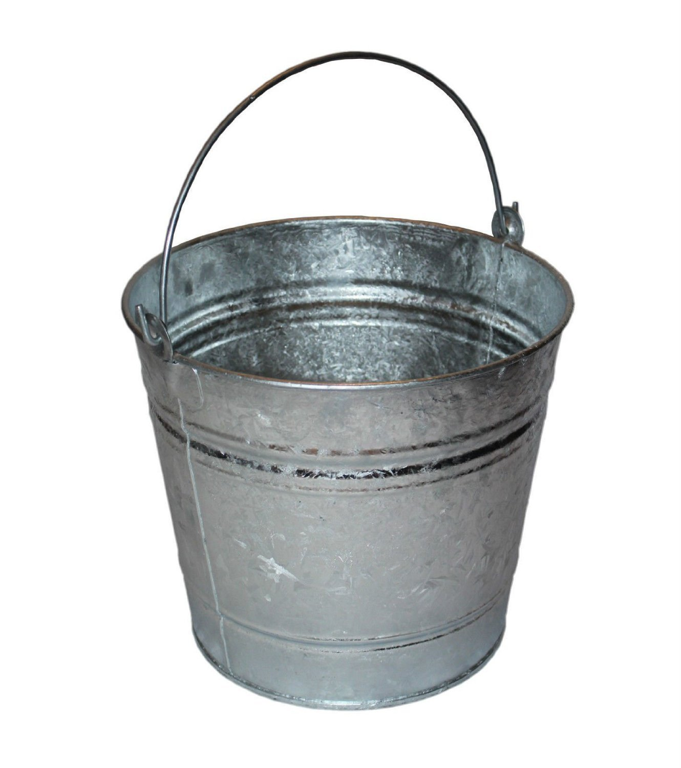 10 Litre Galvanised Metal Bucket - Indoor & Outdoor use Fineway.