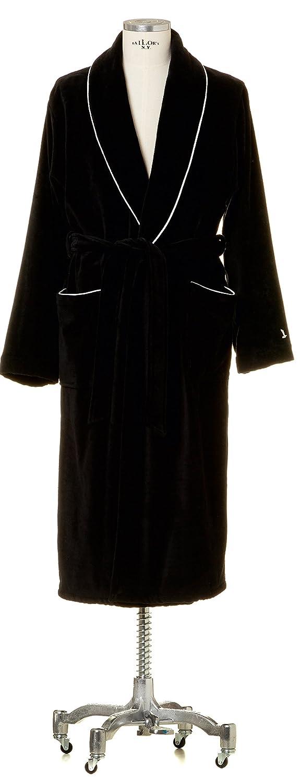 Möve Möve Möve Homewear Schalkragenmantel Velours in Gr. XL aus 100 % Baumwolle, schwarz 1d8c05