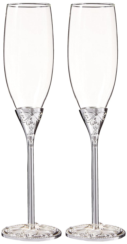 Unik Occasions Wedding Toasting Flutes/Champagne Glasses UO-TG-CS-3022A