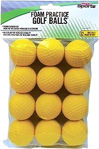 PrideSports Practice Golf Balls, Foam, 12 Count, Yellow