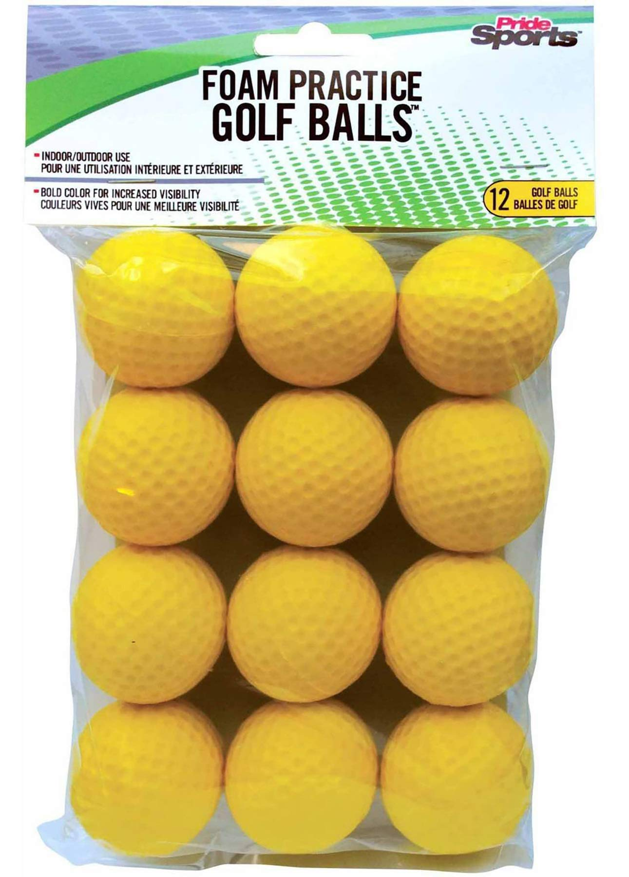 PrideSports Practice Golf Balls, Foam, 12 Count, Yellow ...