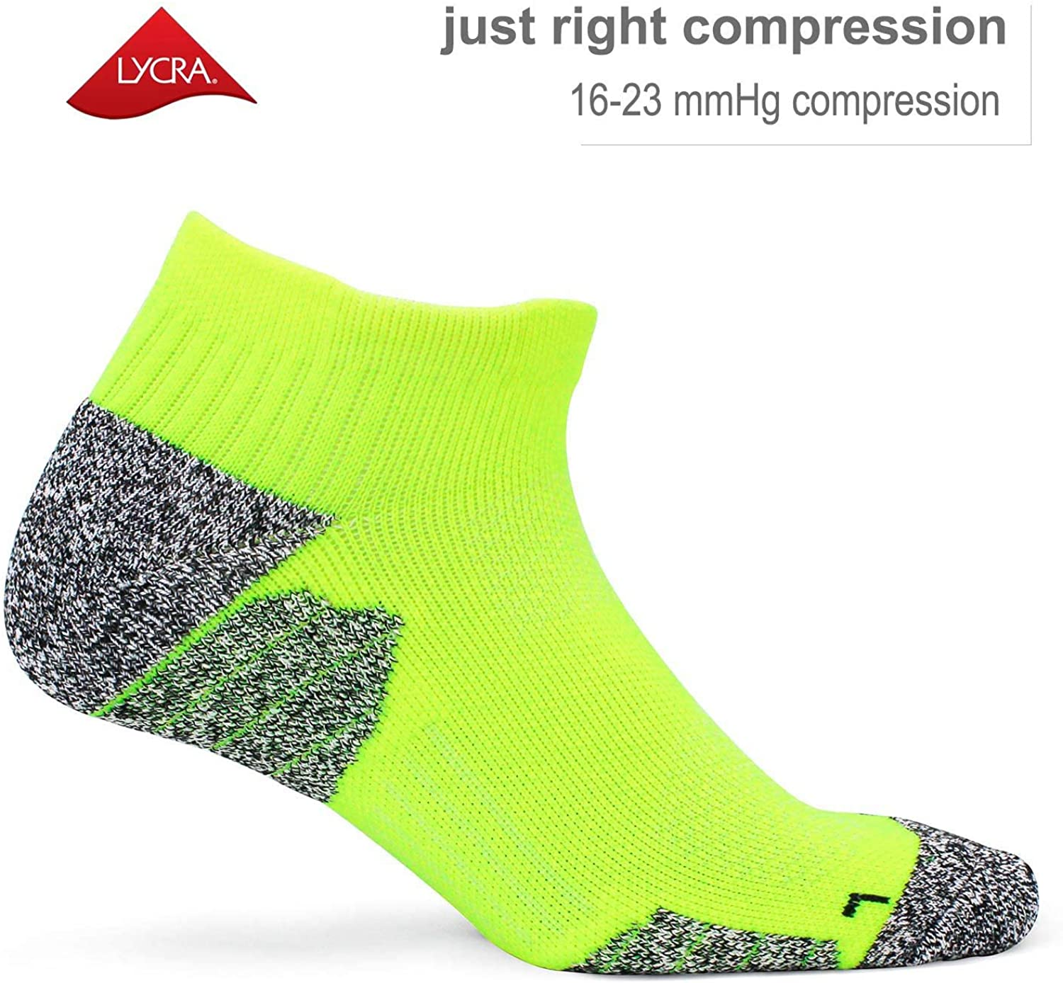 Cushioned 16-23 mmhg for Men Women CWVLC Compression Athletic Socks 3//6 pairs