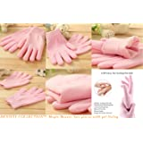 Density Collection Unisex Hydrating Cotton, Thermoplastic Spa Gel Moisturizing Hand Gloves for Repair Dry Cracked Skin