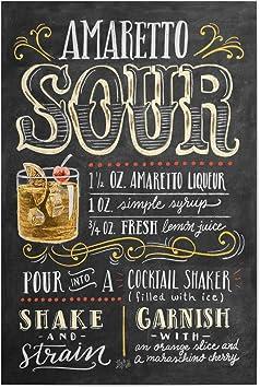 Bild amarettosour Cocktail Shake artboxONE Poster 30x20 cm Cocktails Typografie Amaretto Sour Cocktail