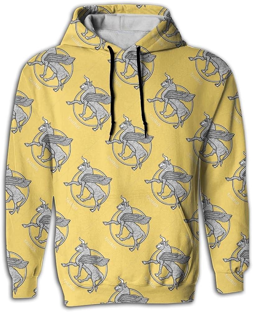 MCPWY Cool Taurus Constellation Mens Sleeve Hoodie Crazy Mens Hoodies