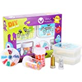 vvljproducts DIY Slime Kit for Kids – Making Supplies with Clear Slime, Colorful Beads & Foam Balls, Cute Decorations, Holographic Glitter & Storage Containers – Great Gift for Boys & Girls