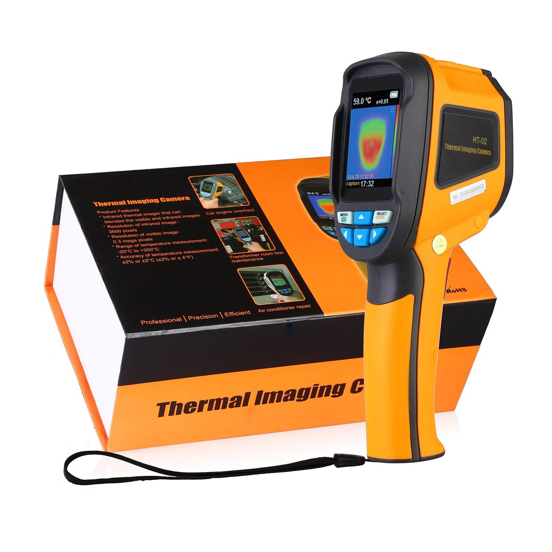 URPRO Infrared (IR) Thermal Imager Imaging Camera 2.4'' Full Angle Color Display, IR Image 3600 Pixels, Visible Image 0.3 mega Pixels, -20~300°C Range, 6hz Refresh Rate by URPRO