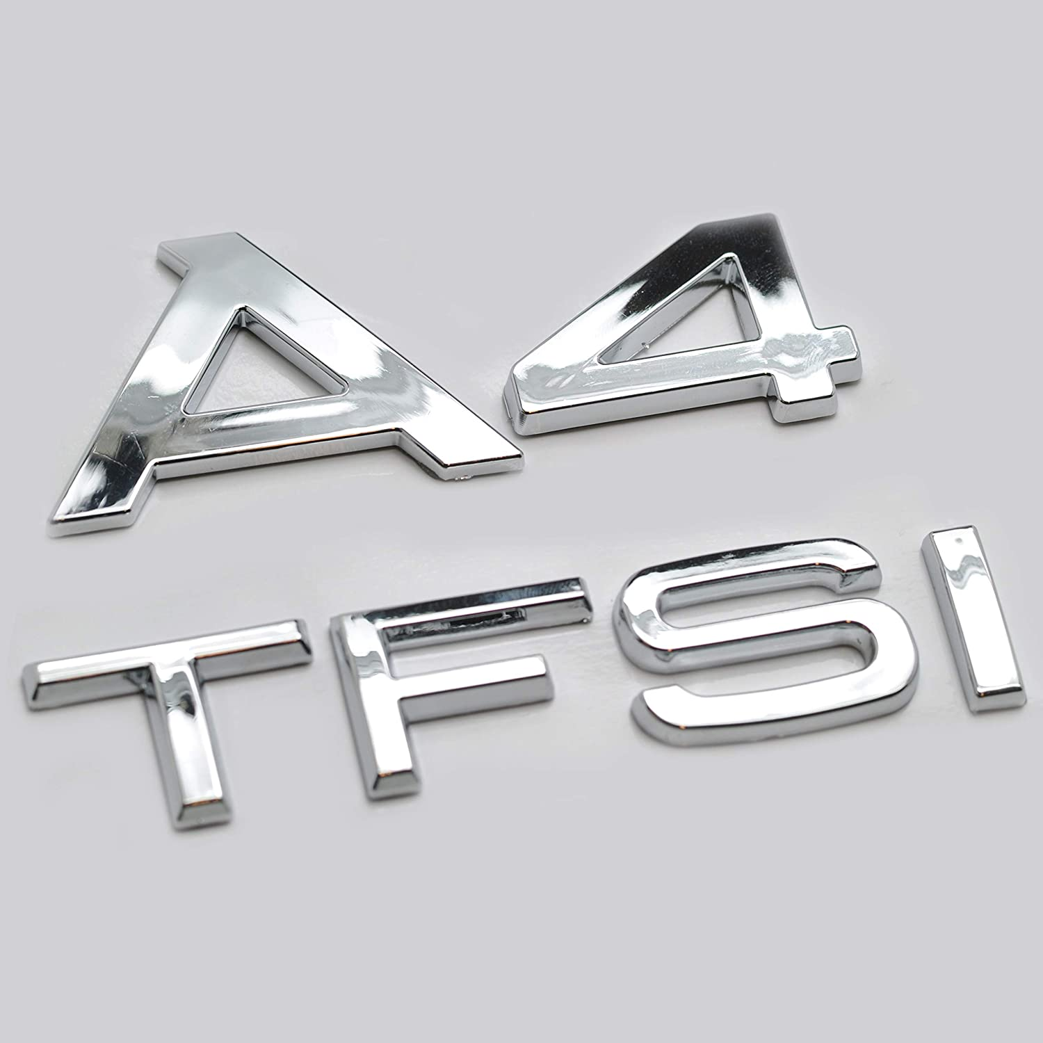Silver Chrome A4 Lettering Rear Boot Lid Trunk Badge Emblem For A4 Models
