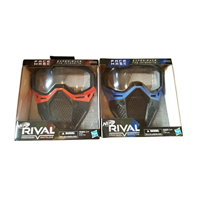 Nerf Rival Face Masks Red and Blue Bundle: Toys & Games