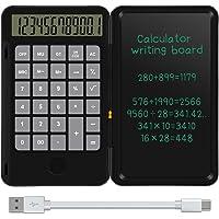 NEWYES Calculadora Básica y Tableta de Escritura LCD 6,5 Pulgadas Calcular y Tomar Notas (Negro)