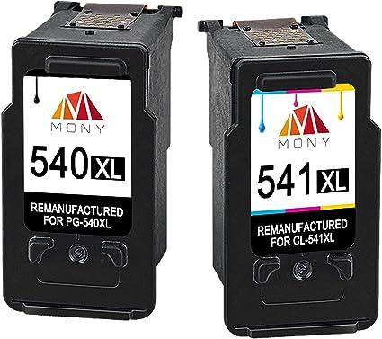 Mony Remanufacturado Cartuchos de tinta Canon PG-540 CL-541 XL (1 ...