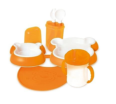 DBD Remond 212007 - Juego de vajilla y cubertería infantiles, color naranja