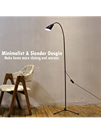 Dimmable LED Floor Lamp Standing Lamp Reading Light, Clip On Desk Table Lamp  With