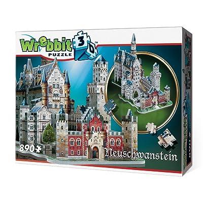 Neuschwanstein Castle 3D Jigsaw Puzzle, 890-Piece: Toys & Games [5Bkhe1102776]