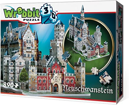 Wrebbit W3D2005 - Puzzle en 3D del Castillo de Neuschwanstein (Alemania): Amazon.es: Juguetes y juegos