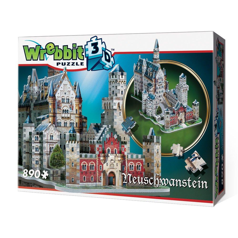 Neuschwanstein Castle 3D Jigsaw Puzzle, 890-Piece by WREBBIT 3D