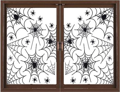 Spooky Spider Halloween Party Decoration Wall Scene Sticker Window Door Decal