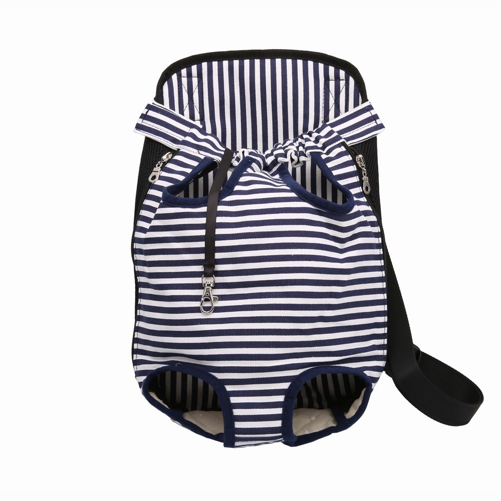 blueestripes MediumPet Carrier Backpack, Legs Out Front Pet Dog Carrier Front Chest Backpack Pet Cat Puppy Tote Holder Bag Sling Outdoor